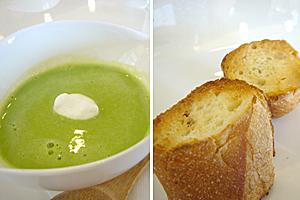 スープとパン、美味し☆
