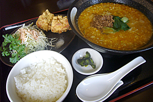 お昼の麺セット(担々麺バージョン☆)