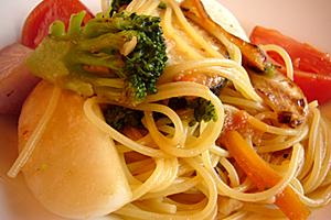 新鮮野菜コースのパスタ☆