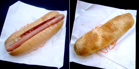 ホットドッグと揚げパン