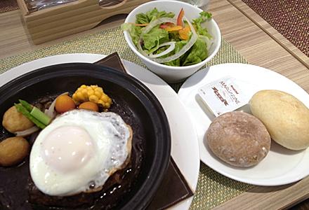 カフェリコ☆ジタン鍋ハンバーグセット