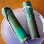 竹流し(朔日餅)と笹のしずく