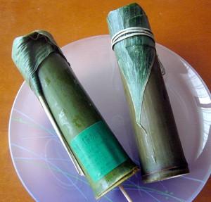 竹流しと笹のしずく