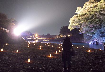 ヨイ夜ナ☆烏帽子岩のライトアップ