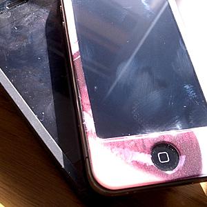 iPhoneが2つ…。