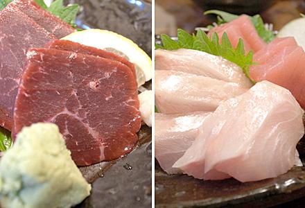 つぼ銀☆鯨と金目鯛。美味し