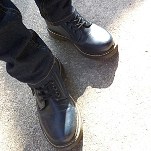 男らしい私の足