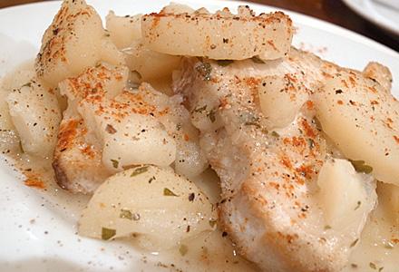 ビストロ古川亭☆魚とじゃが芋の煮込み