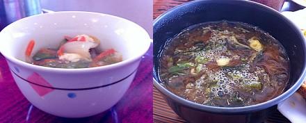 八宝菜とあおさの味噌汁