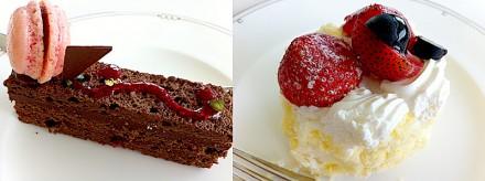 苺ショートとガトーショコラ