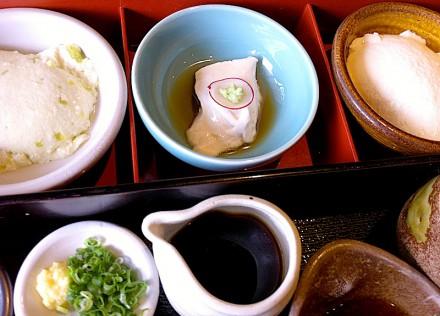 三種類の豆腐